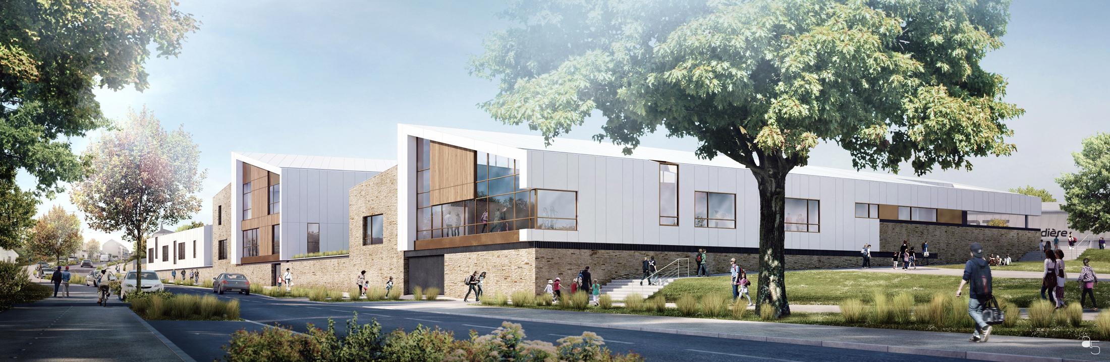 DCL Architectes - Concours groupe scolaire Orvault
