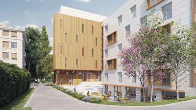 ellin sebbag architecte - concours crous montpellier - résidence - étudiante - image 3D - render - archiviz - image de synthèse