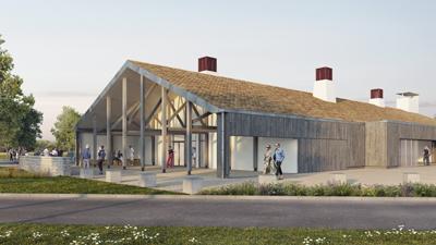 Ligne Dau architectes - La Chapelle Vendomoise - salle polyvalente - archiviz - image de synthèse - groupe à5